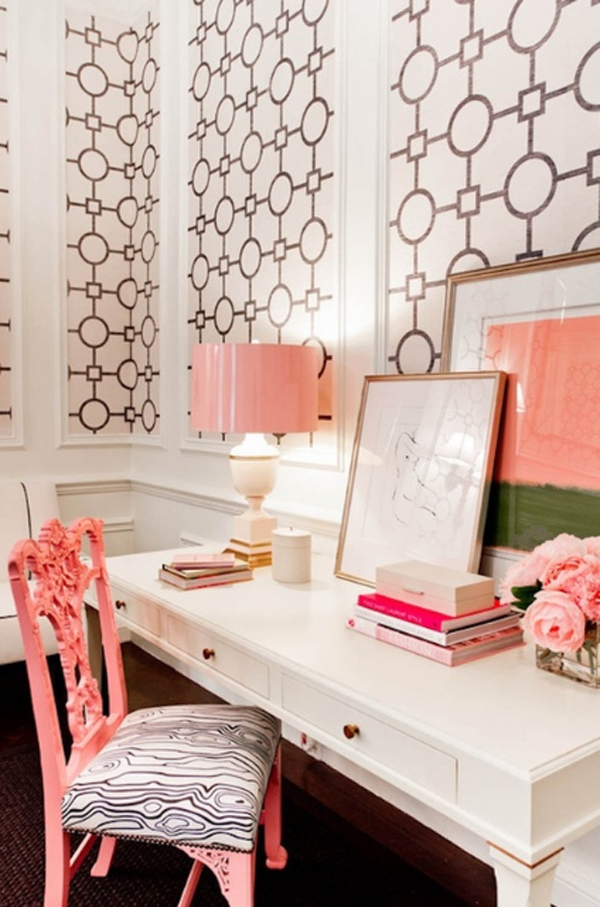 17 Pink And Cute Office Design For Girl