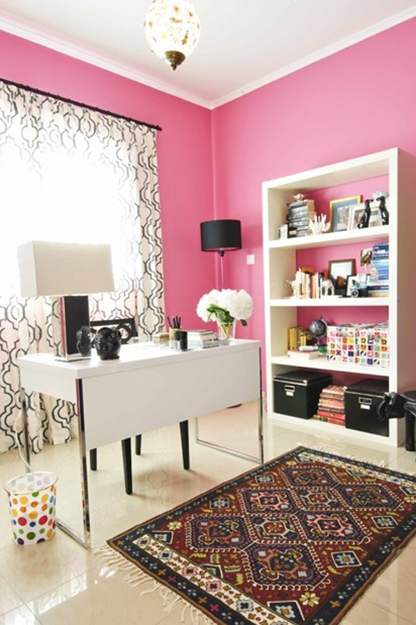 Enjoyable 17 Pink Office Ideas Cute Space For Girl Home Design And Interior Largest Home Design Picture Inspirations Pitcheantrous