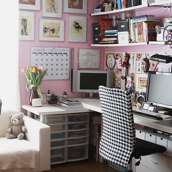 Fortable And Cute Home Office Design Ideas: 17-small-home-office-ideas-for-girl