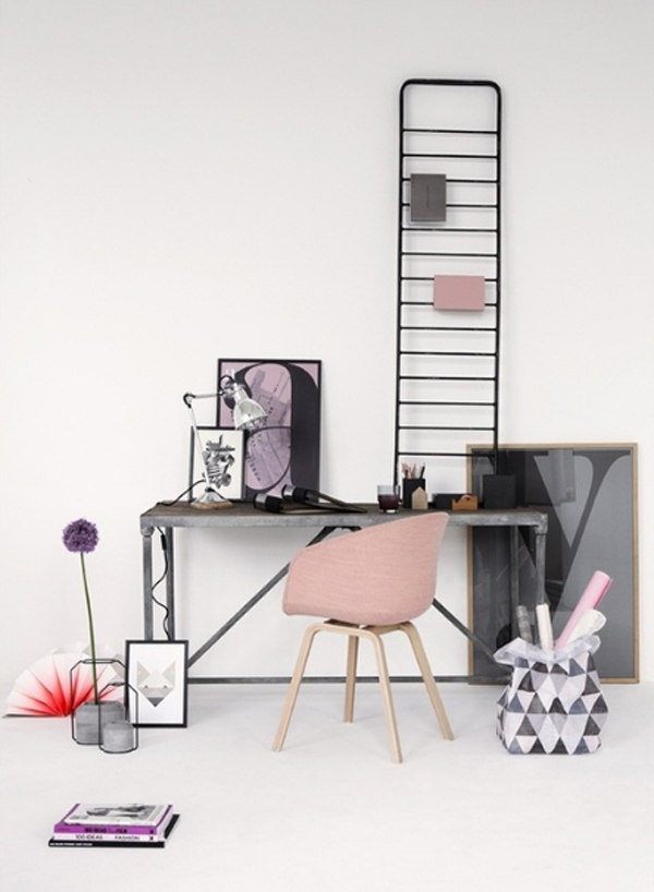 17-pink-office-room-decor-for-girl