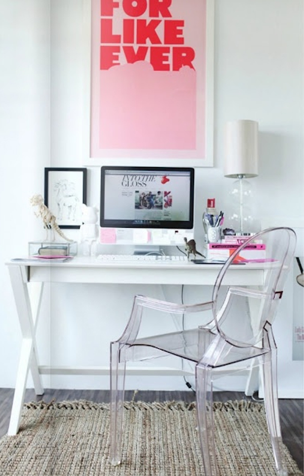 17 Pink Office Room Ideas For Girl