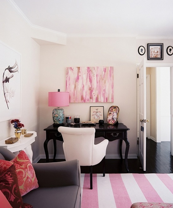 Pleasing 17 Pink Office Ideas Cute Space For Girl Home Design And Interior Largest Home Design Picture Inspirations Pitcheantrous
