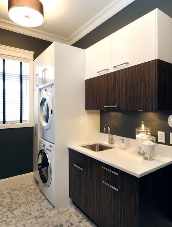 20 laundry room design with small space solutions home - Laundry room cabinet ideas ...