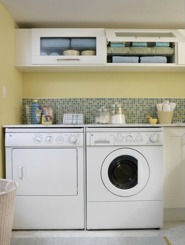 20 laundry room ideas with small space solutions for Small laundry design