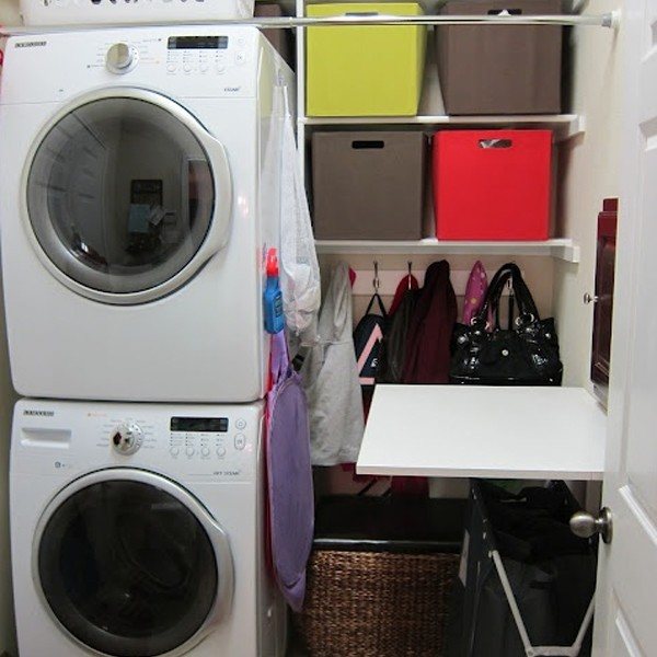 20 small laundry room organizer with small space solutions Storage solutions for small laundry rooms