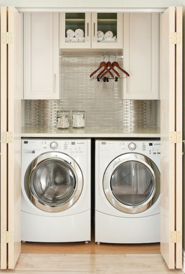 20 laundry room design with small space solutions home for Small bedroom furniture solutions