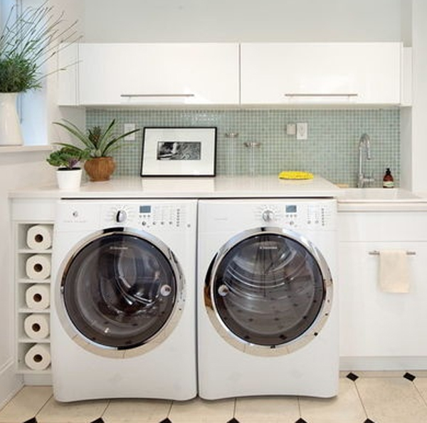 20 small laundry room decoration with small space solutions