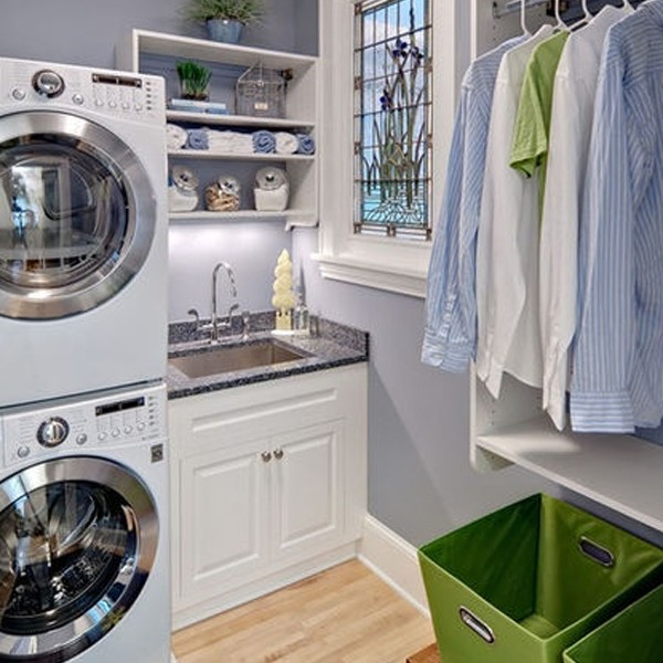 20 small laundry room shelving with small space solutions - Laundry rooms for small spaces decoration ...
