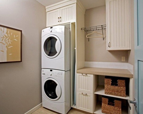 20 small laundry room makeovers with small space solutions - Ironing board solutions for small spaces ideas ...