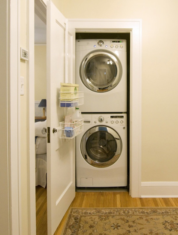 20 small laundry room storage cabinets for Small laundry design