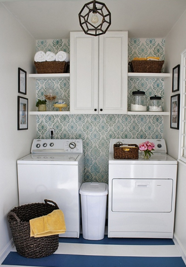 20 small laundry room storage solutions for Small room solutions