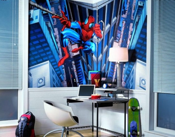 30-kid-bedroom-design-with-spyderman-theme