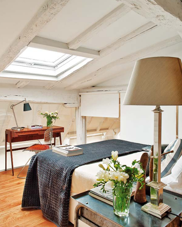 Apartment Located: Attic-apartments-with-bedroom-design-located-in-spain