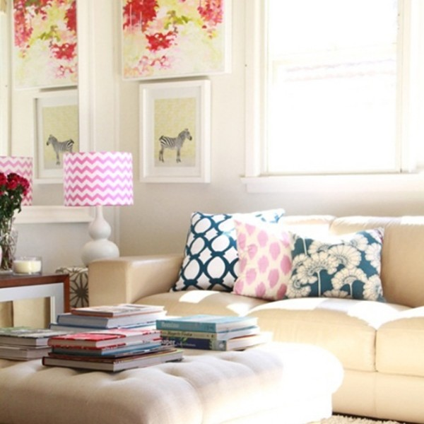 Chic Colorful Living Room: Chic-and-colorful-living-room-decor-for-spring