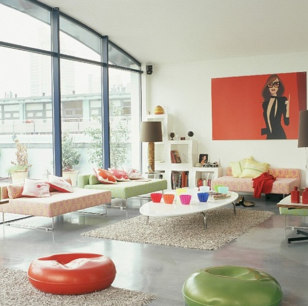 Colorful Living Room Design Online: Chic-and-colorful-living-room-design-for-spring