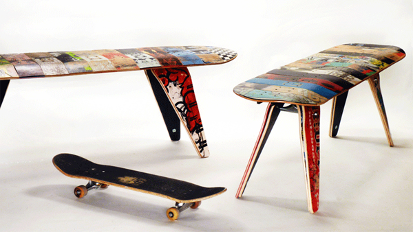 What do you think when I saw this cool skateboard chair? Skateboarding is one of the challenging sport and requires high stamina so if you include people ... & Cool and Masculine Skateboard Furniture | Chair Seating 2013 | Home ...