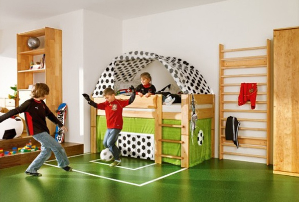 Cool Boy Bedroom Theme With Soccer Yheme