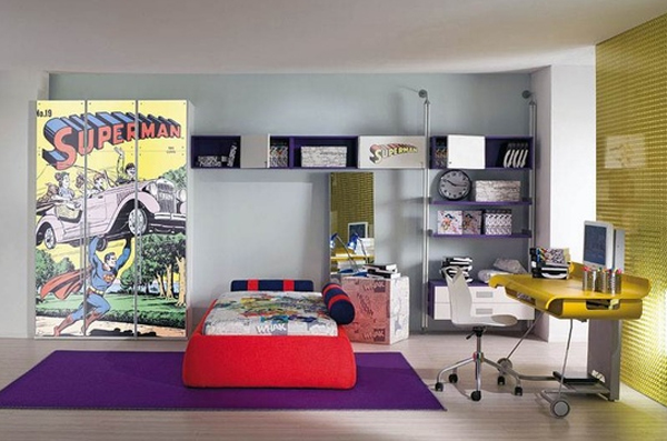 cool-boys-bedroom-theme-with-superman-ideas