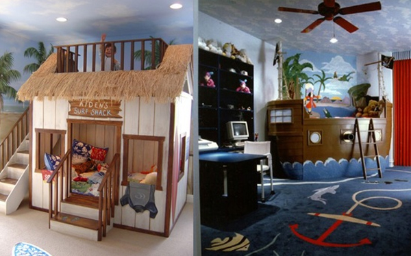 Cool kids bedroom theme with beach ideas for Bedroom beach theme ideas