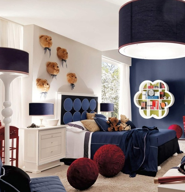 Blue Kids Room: Cute-kid-bedroom-ideas-with-teddy-bear-theme