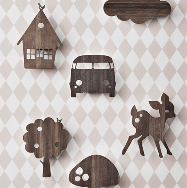 Kids wall lighting with wooden animal themes aloadofball Image collections