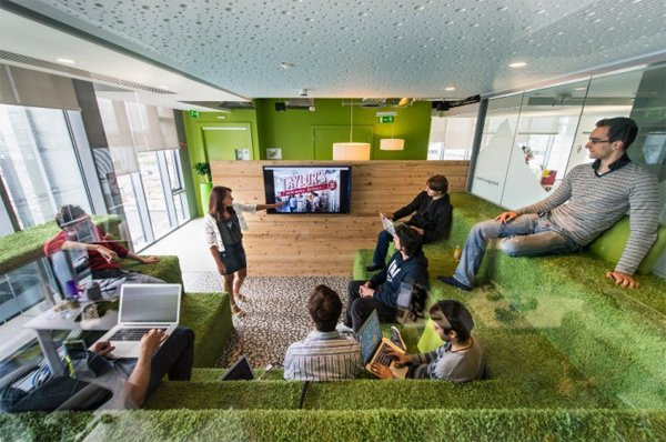 Gallery of latest google office design located in dublin - Latest Google Office Picture With Green Sace