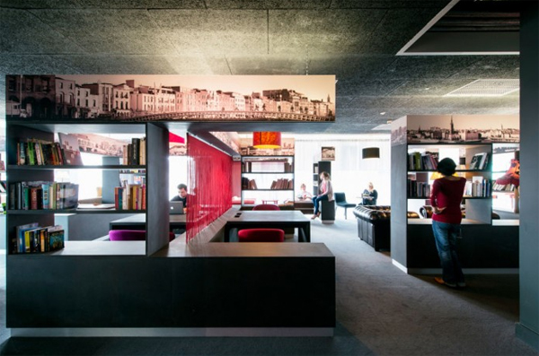 Gallery of latest google office design located in dublin - Latest Google Office Space With Modern Bar