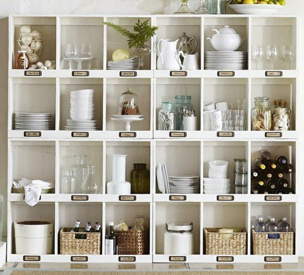 Small kitchen cabinets with storage solutions for Small kitchen shelves
