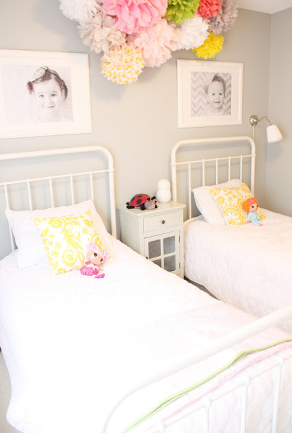 stylish-girl-room-ideas-with-two-beds   HomeMydesign