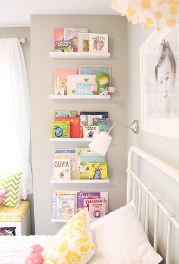 stylish-kids-bookcase-with-two-beds