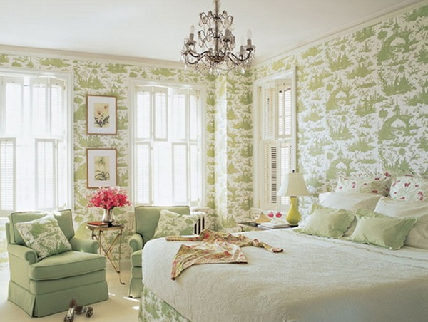 Top 15 romantic bedroom design with green color for House interior design romantic bedroom