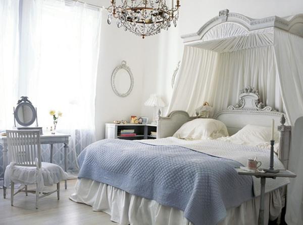 Top 15 romantic bedroom decor for wedding home design - Camere da letto stile shabby chic ...