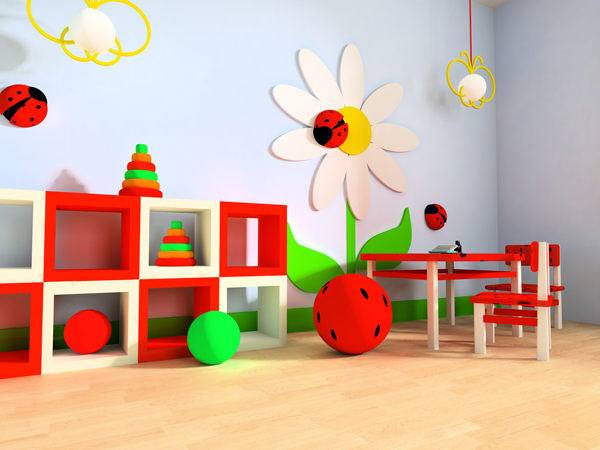 awesome playroom ideas with flower themes 35 Awesome Kids Playroom Ideas