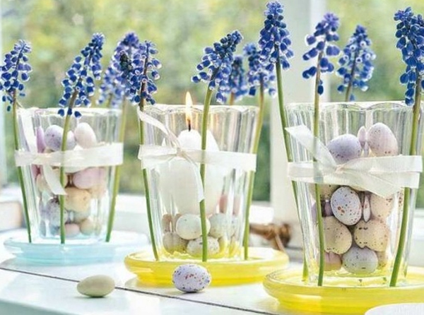 Beautiful easter table decorations - Centerpiece ideas for home ...