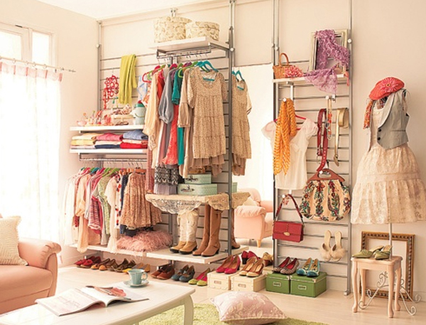 Beautiful Girl Closet Organization