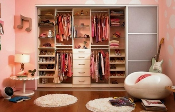 Beautiful And Small Girl Closet Ideas