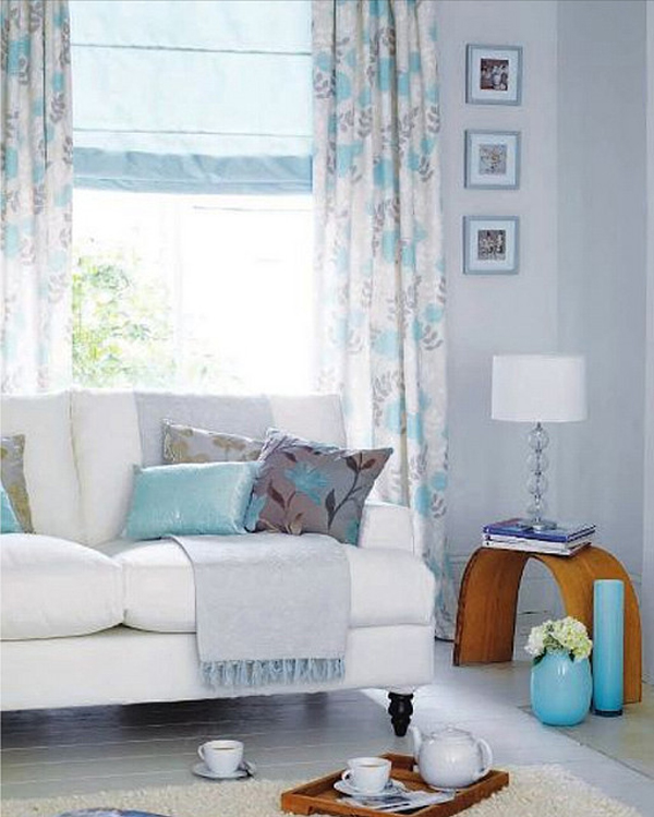 Blue pastel living room design for Living room ideas pastel