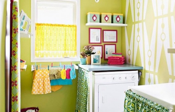bright-laundry-room-decor