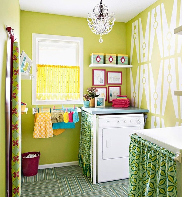 Inspiring Bright Laundry Room Designs | Home Design And Interior