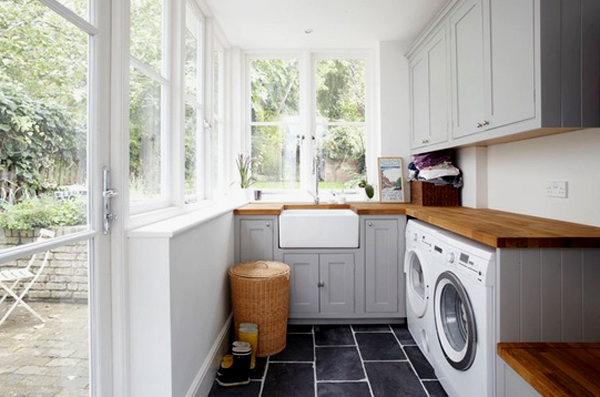 Bright Outdoor Laundry Room Design