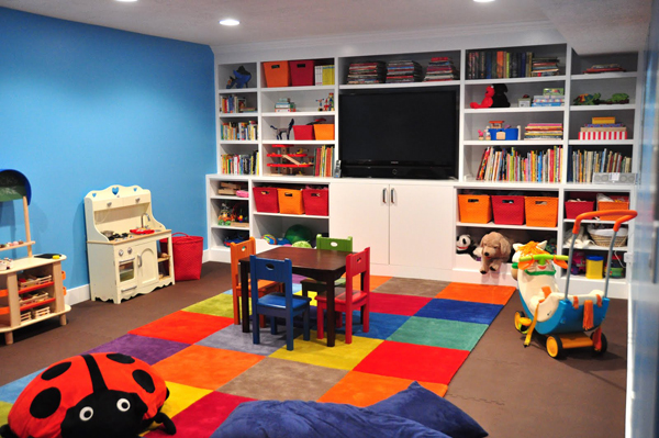 colorful kids playroom design ideas 35 Awesome Kids Playroom Ideas