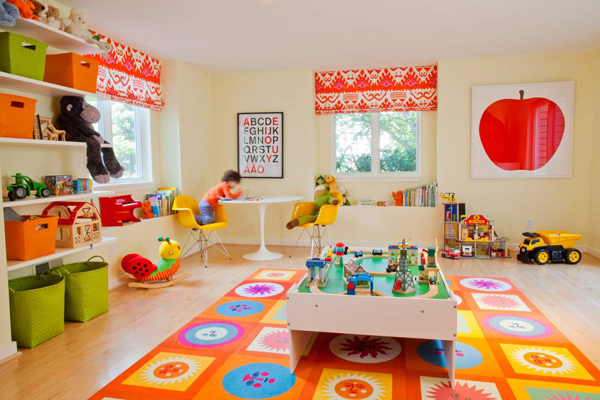 colorful kids playroom ideas 35 Awesome Kids Playroom Ideas