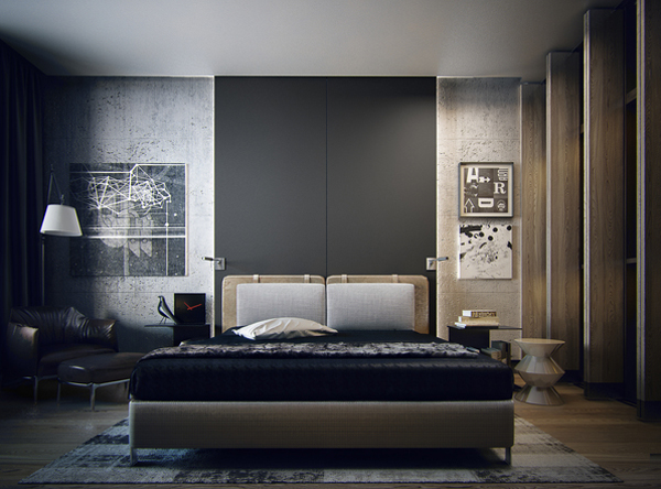 Contemporary Apartment Design With Bedroom By Koko Architects