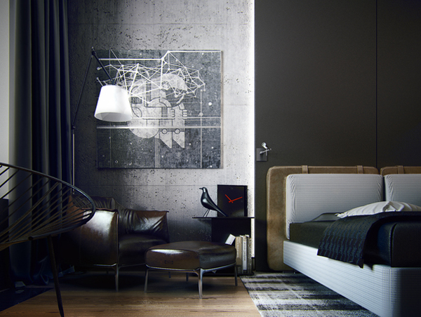 Masculine Apartment Ideas Contemporary Art By Ko Ko