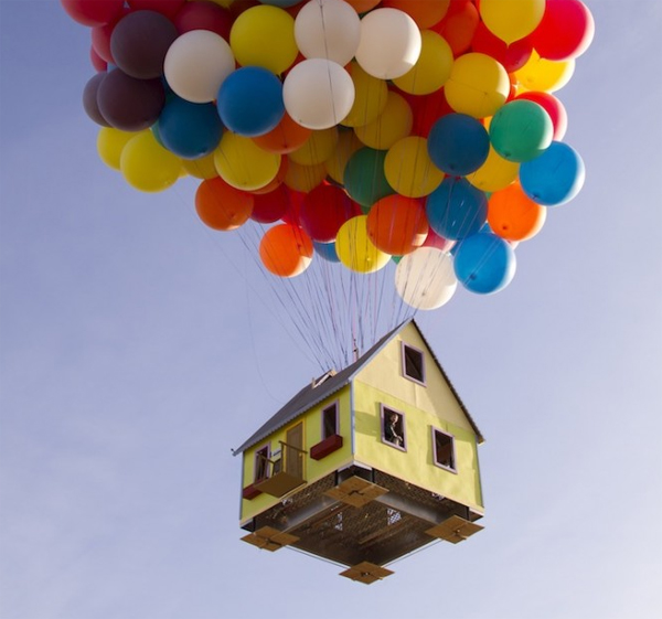 Pixar Quot Up Quot House Created In Real Life And Flown Home