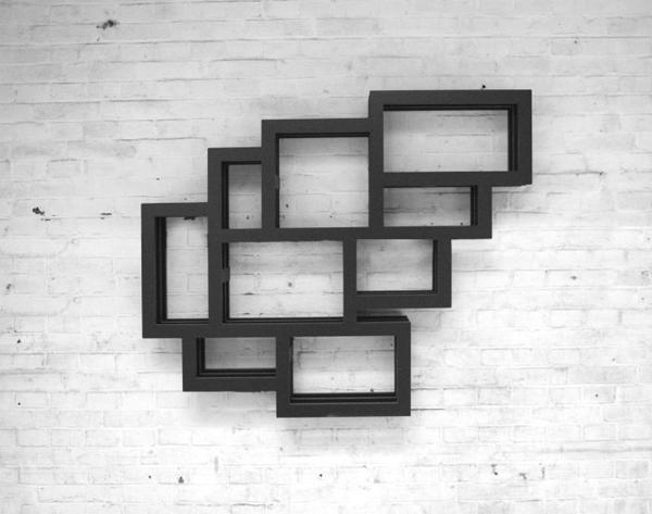 . Frames Bookshelves in Wall Interior by Gerard De Hoop   Home Design