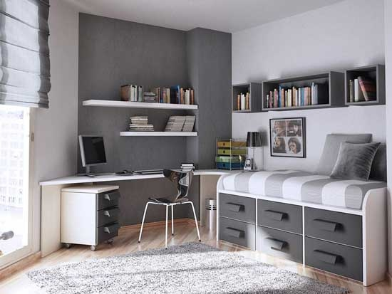 29 colorful teen room ideas home design and interior for Dormitorio 3x3