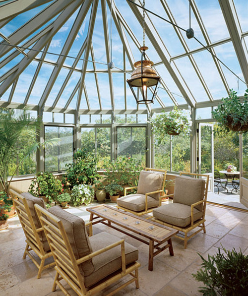 Indoor garden with sunroom ideas for Indoor garden design pictures