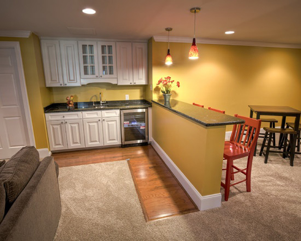 Inspiring basement kitchen ideas for Basement cabinet ideas