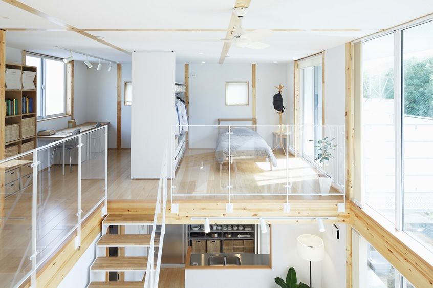 Japanese interior with staircase ideas for Japanese minimalist interior design